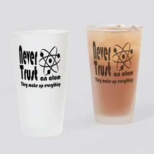 Never Trust Atom Vintage Drinking Glass