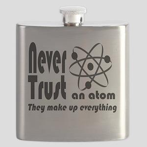 Never Trust Atom Vintage Flask
