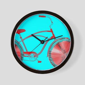 Tomato Wheel Cruiser Bike Wall Clock