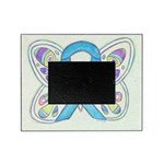 Blue Awareness Ribbon Butterfly Picture Frame