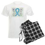 Blue Awareness Ribbon Butterfly Pajamas