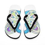 Blue Awareness Ribbon Butterfly Flip Flops