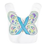 Blue Awareness Ribbon Butterfly Bib
