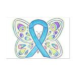 Blue Awareness Ribbon Butterfly Mini Poster Print