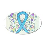 Blue Awareness Ribbon Butterfly Wall Decal