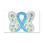 Blue Awareness Ribbon Butterfly Car Magnet 20 X 12