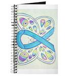 Blue Awareness Ribbon Butterfly Journal