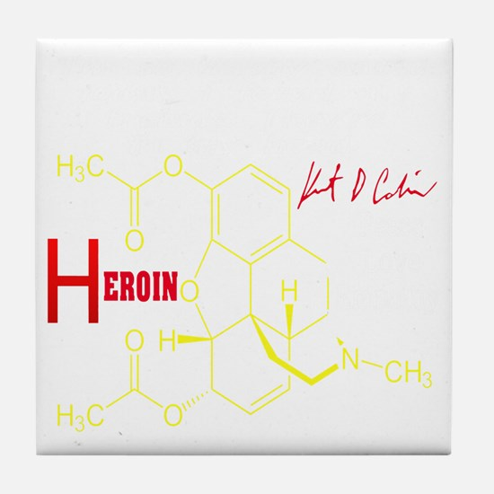 KC HEROIN Tile Coaster