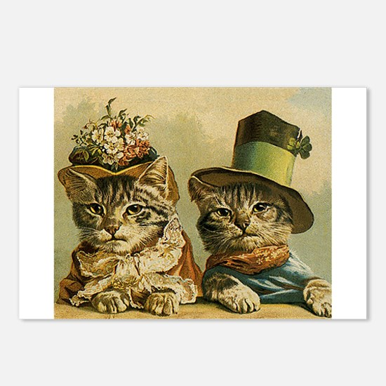 Vintage Cats in Hats Postcards (Package of 8)