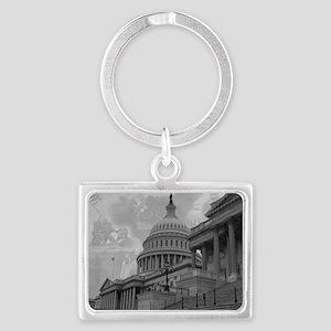 Liberty's Score Landscape Keychain