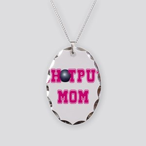 Shotput Mom Necklace Oval Charm