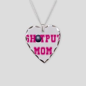 Shotput Mom Necklace Heart Charm