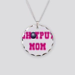 Shotput Mom Necklace Circle Charm
