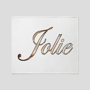 Gold Jolie Throw Blanket