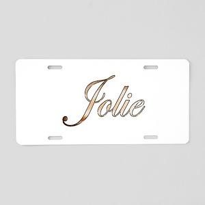 Gold Jolie Aluminum License Plate