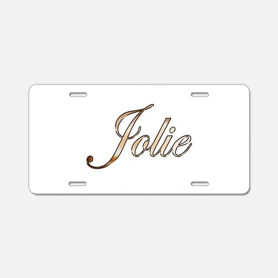 Gold Jolie Aluminum License Plate