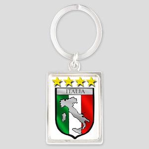 Italia Shield Keychains