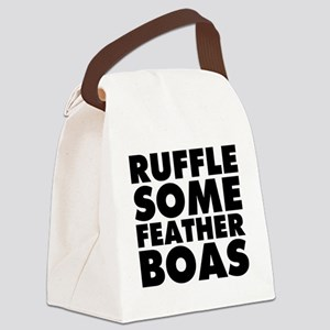 Ruffle Some Feather Boas Canvas Lunch Bag