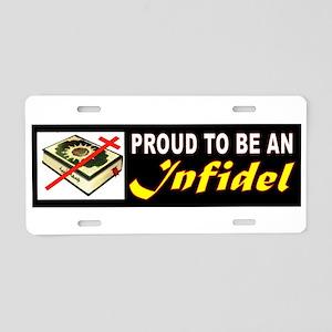 Infidel Bumper Aluminum License Plate