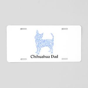 Blue Chihuahua Dad Aluminum License Plate
