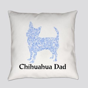 Blue Chihuahua Dad Everyday Pillow