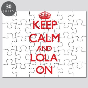 Keep Calm and Lola ON Puzzle