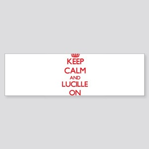 Keep Calm and Lucille ON Bumper Sticker