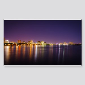 Boston Skyline at Night Sticker