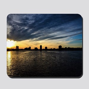 Blazing Boston Sunset Mousepad