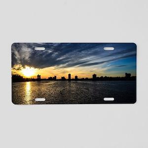 Blazing Boston Sunset Aluminum License Plate