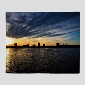 Blazing Boston Sunset Throw Blanket
