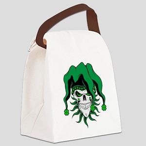 Irish Jester Skull Canvas Lunch Bag