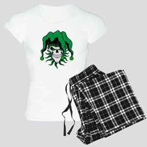 Irish Jester Skull Women's Light Pajamas