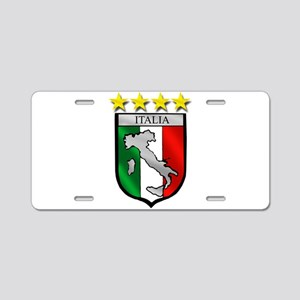 Italia Shield Aluminum License Plate