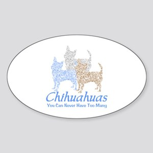 Never Too Many Chihuahuas Sticker