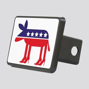 Democratic Donkey on Heels Rectangular Hitch Cover