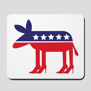 Democratic Donkey on Heels Mousepad