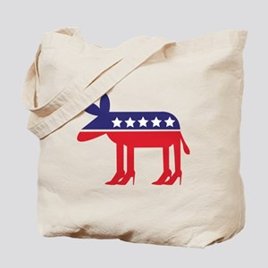 Democratic Donkey on Heels Tote Bag
