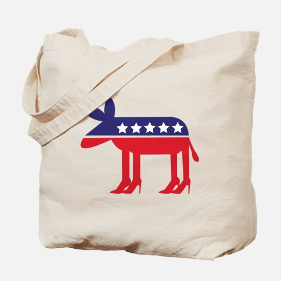 Democratic Donkey on Heels Tote Bag