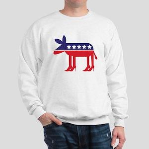 Democratic Donkey on Heels Sweatshirt
