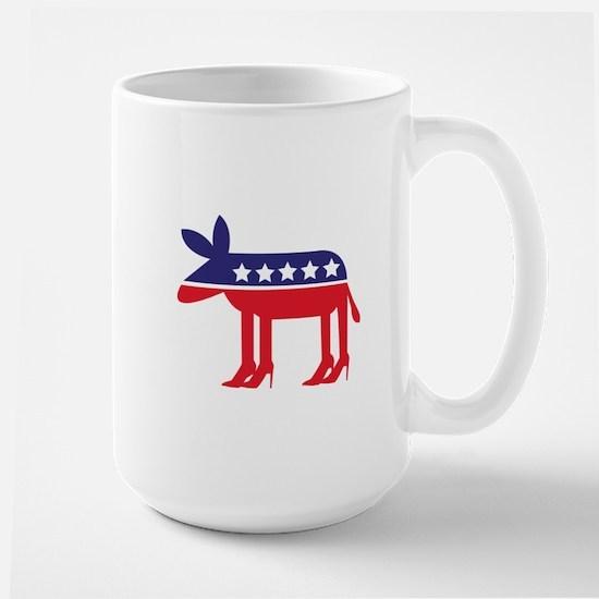 Democratic Donkey on Heels Large Mug