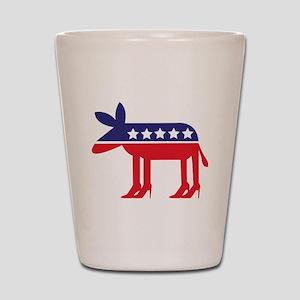 Democratic Donkey on Heels Shot Glass