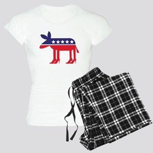 Democratic Donkey on Heels Women's Light Pajamas