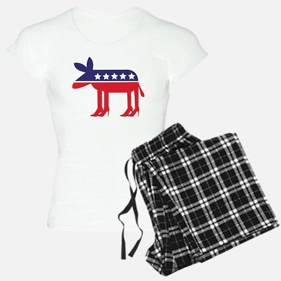 Democratic Donkey on Heels Pajamas