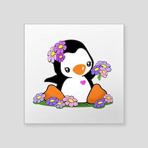 """Penguin Square Sticker 3"""" X 3"""""""