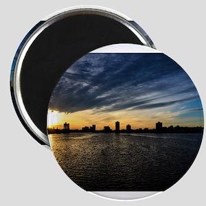 Blazing Boston Sunset Magnets