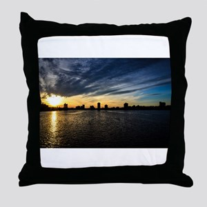 Blazing Boston Sunset Throw Pillow