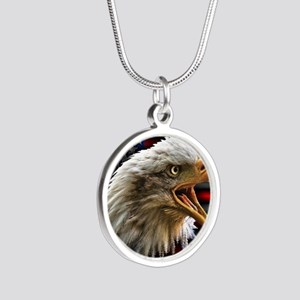 Come And Take It Silver Round Necklace