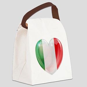 My Italian Heart Canvas Lunch Bag