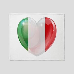 My Italian Heart Throw Blanket